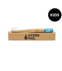 Naturalna, wegańska szczoteczka do zębów z biodegradowalnego bambusa, DLA DZIECI, Niebieska