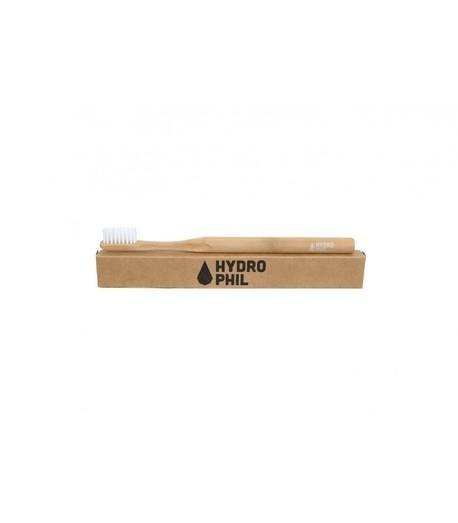 Naturalna, wegańska szczoteczka do zębów z biodegradowalnego bambusa, WŁOSIE ŚREDNIE, Naturalna (1)
