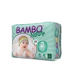 Pieluszki jednorazowe ekologiczne (2), Mini (3-6 kg), 30 szt., Bambo Nature
