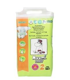 Pieluszki ekologiczne, jednorazowe, (2) MINI 3-6 kg, 58 szt., EKO, MUUMI