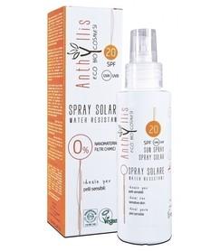 EKO BIO krem przeciwsłoneczny SPF 20 A+++ (10.0/10.0) chroni przed UVA i UVB dla skóry wrażliwej WODOODPORNY 100 ml Anthyllis