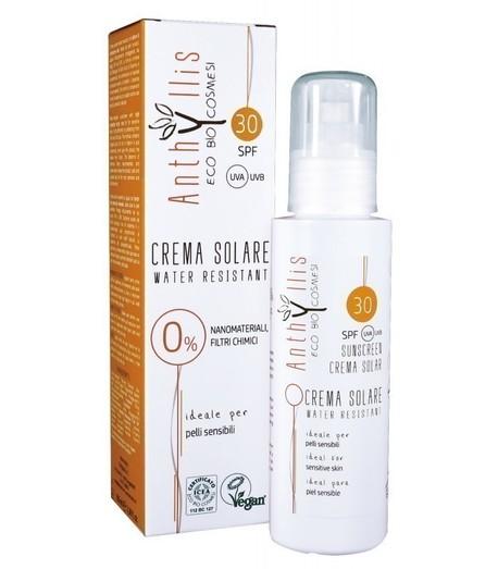 EKO BIO krem przeciwsłoneczny SPF 30 A+++ chroni przed UVA i UVB dla skóry wrażliwej WODOODPORNY 100 ml Anthyllis (1)