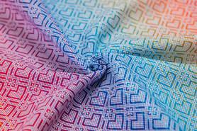 Nosidełko LennyUp z tkaniny żakardowej 100% bawełna , rozmiar standard,  BIG LOVE TĘCZA, LennyLamb
