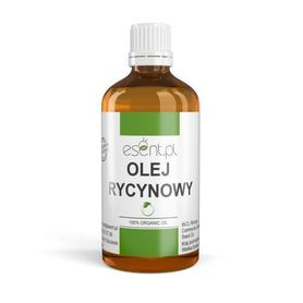 Olej Rycynowy, 100% ORGANIC, NIERAFINOWANY, tłoczony na zimno 100 ml