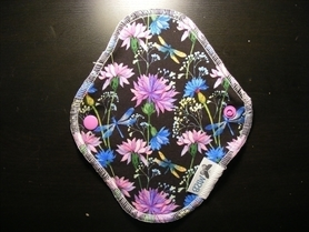 Wkładka higieniczna wielorazowa, Kwiaty, MRB wielorazowo dla dzieci i kobiet