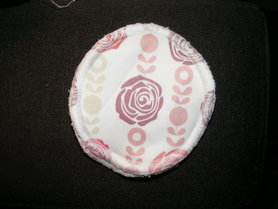 Wielorazowe wkładki laktacyjne, Róże, 1 para, MRB wielorazowo