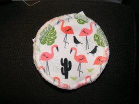 Już wkrótce! Wielorazowe wkładki laktacyjne, Flamingi, 1 para, MRB wielorazowo dla dzieci i kobiet