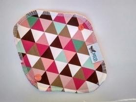 Wkładka higieniczna wielorazowa, Kolorowe trójkąty, MRB-wielorazowo