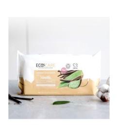 Najbardziej ekologiczne na świecie nawilżane chusteczki, Ecocare, 60 szt.