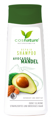 Naturalny regenerujący szampon do włosów z awokado i migdałami, 200 ml