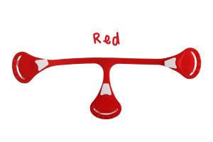 Klamerka do pieluch wielorazowych Snappi, kolor czerwony (red) (1)