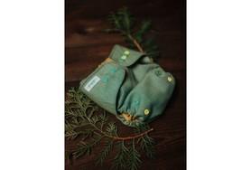 Otulacz wełniany One Size, Green Herringbone, V2 PUPPI