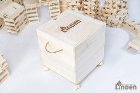 Skrzynia z litego drewna 45x45x40cm