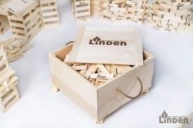 Klocki - 500 sztuk w drewnianej skrzyni na kółkach