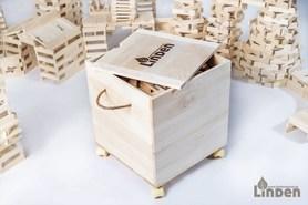 Klocki - 1 000 sztuk w drewnianej skrzyni na kółkach