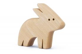 Drewniana zabawka - Zając Lepek