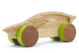 Samochód drewniany - sportowy