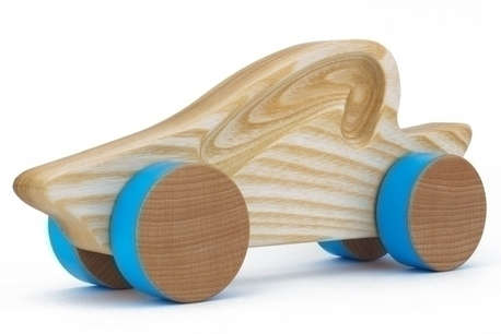 Samochód drewniany - kabriolet (1)