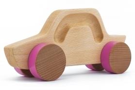 Samochód drewniany - sedan