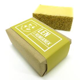 Naturalne mydło - Len i Rumianek, 110 g, Cztery Szpaki
