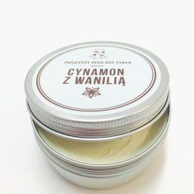 Puszysty mus do ciała - Cynamon z Wanilią, 150 ml, Cztery Szpaki