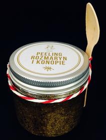 Peeling do ciała - Rozmaryn i Konopie, 200 ml, Cztery Szpaki