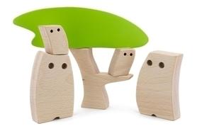 Drewniana zabawka - Sowia Rodzinka