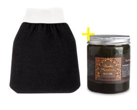 Rękawica Kessa do zabiegu Hammam + Naturalne czarne mydło, 200 g, BEAUTE MARRAKECH