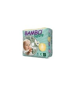 Pieluszki jednorazowe ekologiczne (3) MIDI (5-9 kg) 33 szt., Bambo Nature