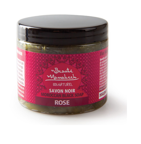 Naturalne czarne mydło Savon Noir, 200 g, z olejem różanym