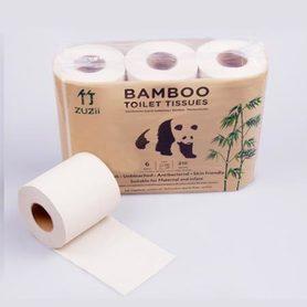 Papier toaletowy z bambusa, niebielony, 1 rolka, na spróbowanie
