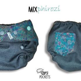 Otulacz wełniany Oops! z chustą, One Size SLIM, Mix Phirozi