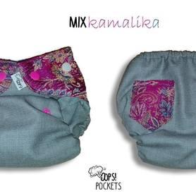 Otulacz wełniany Oops! z chustą, One Size SLIM, Mix Kamalika