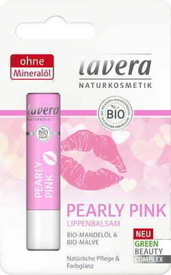 Balsam do ust z BIO olejkiem migdałowym i BIO malwą, Pearly Pink 4.5 g