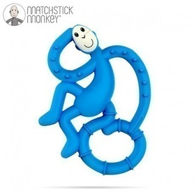Matchstick Mini Monkey Gryzak Masujący - niebieski