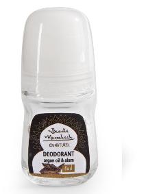 Dezodorant naturalny, olej arganowy & ałun, egzotyczne drzewo, męski zapach roll on, 50 ml