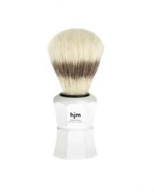 Pędzel do golenia HJM 41P40W - czysta szczecina, biały