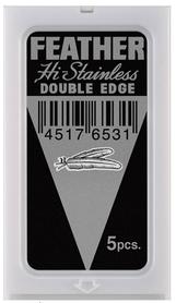Żyletki Feather - Hi Stainless - czarne, 5 szt.