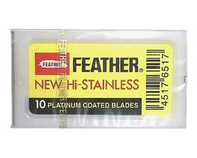 Żyletki Feather New Hi Stainless - żółte, 10 szt.
