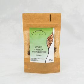 Żywica świerka norweskiego, surowa, 25 g