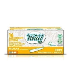 Tampony higieniczne REGULAR z aplikatorem, z organicznej bawełny, 16 sztuk