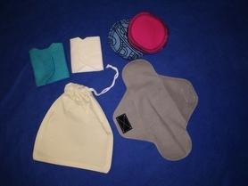 Bawełniany woreczek na podpaski lub płatki kosmetyczne wielorazowe, 1 szt.