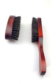 Szczotka do włosów/brody z rączką - 100% włosie naturalne