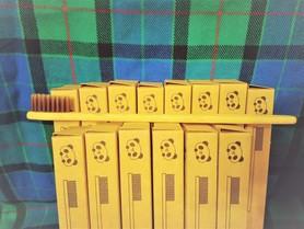 Szczoteczka do zębów, bambusowa, dla dorosłych, kolor włosia: brązowy