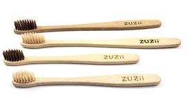 Szczoteczka do zębów, bambusowa, dla dorosłych, kolor włosia: beżowy