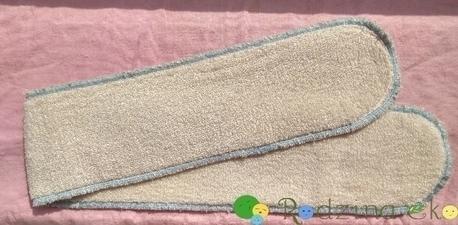 Wkład bambusowy Long Plus, 10 x 70 cm, 2 warstwy, Nappime (1)