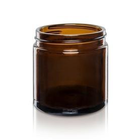 Szklany słoik, brązowy, z nakrętką, 120 ml