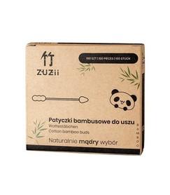 Patyczki kosmetyczne do uszu/makijażu z bawełny i bambusa, 100 szt.