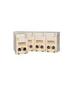 Chusteczki higieniczne kieszonkowe z bambusa, 4 warstwy, 8-pak