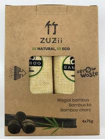 Węgiel bambusowy aktywowany - pochłanicz wilgoci i zapachów, 4 x 75 g